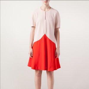 STELLA MCCARTNEY Pink color-block silk dress